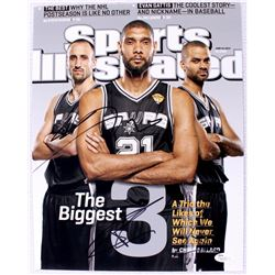 "Manu Ginobili, Tony Parker, & Tim Duncan Signed Spurs ""The Big Three"" 11x14 Photo (JSA COA)"