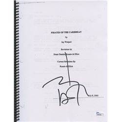 "Johnny Depp Signed ""Pirates of the Caribbean"" Full Script (JSA COA)"