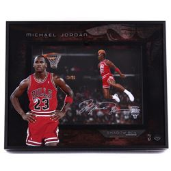 "Michael Jordan Signed Bulls ""88 Slam Dunk"" 16x20x3 Shadow Box (UDA COA)"