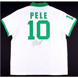 Pele Signed New York Cosmos Throwback On-Field Style Jersey (Steiner COA)