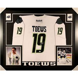 Jonathan Toews Signed Blackhawks NHL All-Star Game 35x43 Custom Framed Jersey (JSA COA)