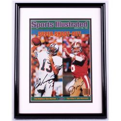Dan Marino & Joe Montana Signed Sports Illustrated 12x15 Custom Framed Photo Display (UDA COA)