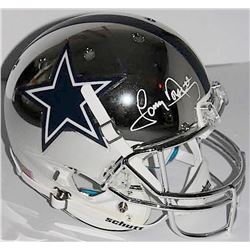 Tony Dorsett Signed Cowboys Full-Size Chrome Helmet (JSA COA)