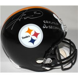 "Hines Ward Signed Steelers Full-Size Helmet Inscribed ""SB XL MVP"" & ""2X SB Champs"" (TSE COA)"