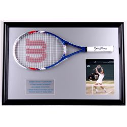 Jimmy Connors Signed 22x32 Custom Framed Tennis Racket Display (PSA COA)