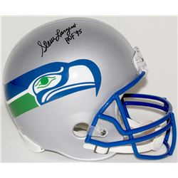 "Steve Largent Signed Seahawks Full-Size Helmet Inscribed ""HOF '95"" (JSA COA)"