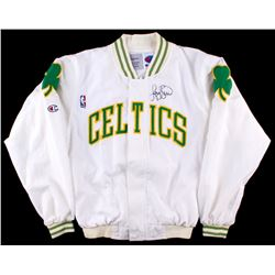 Larry Bird Signed Celtics Warm-Up Jacket (PSA COA)