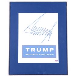 "Donald Trump Signed ""Make America Great Again"" 11x14 Photo Display (PSA COA)"