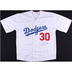 "Maury Wills Signed Dodgers Jersey Inscribed ""104 SB '62"" (PA COA)"