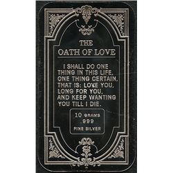 10 Grams .999 Silver Oath of Love Bullion Bar