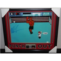 "Mike Tyson Signed ""Punch-Out!!"" 21x25 Custom Shadowbox with Original NES Controller (JSA COA)"