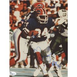 Thurman Thomas Signed Bills 8x10 Photo (JSA COA)