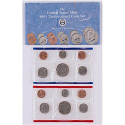 1991 United States Mint Uncirculated Set of (12) Coins with P & D Mint Marks