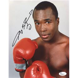 Sugar Ray Leonard Signed Boxing 8x10 Photo (JSA COA)