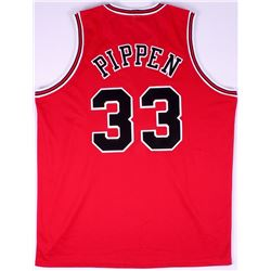 Scottie Pippen Bulls On-Court Style Custom Stitched Jersey (Size XL)