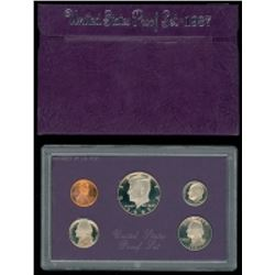 1987 United States Mint Clad Proof Set of (5) Coins