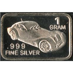 1 Gram .999 Silver Vintage Car Bullion Bar