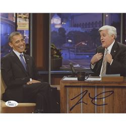 Jay Leno Signed 8x10 Photo with Barack Obama (JSA COA)