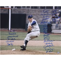 "New York Mets 16x20 Photo Signed by (27) with Dwight ""Doc"" Gooden, Frank Howard, Al Weis (JP's Sport"