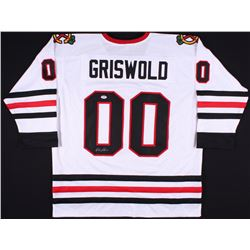 "Chevy Chase Signed ""Griswold"" Blackhawks Jersey (PSA COA)"