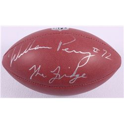"William Perry Signed Football Inscribed ""The Fridge"" (Schwartz COA)"
