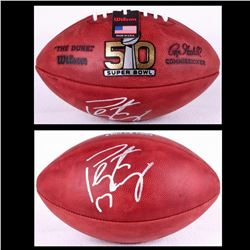 Peyton Manning Signed Super Bowl 50 Official NFL Game Ball (Fanatics Hologram)