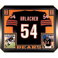 Brian Urlacher Signed Bears 35x43 Custom Framed Jersey (JSA COA)