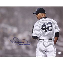 "Mariano Rivera Signed Yankees 16x20 Photo Inscribed ""Exit Sandman"" (JSA COA)"
