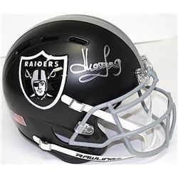 Howie Long Signed Raiders Full-Size Matte Black Authentic Proline Helmet (JSA COA)