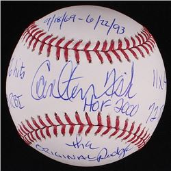 Carlton Fisk Signed OML Baseball With (7) Inscriptions - PSA Graded 9.5 (PSA COA & MLB Hologram)