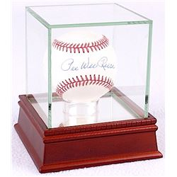Pee Wee Reese Signed ONL Baseball with High Quality Display Case (JSA COA)