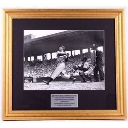 Joe DiMaggio Signed Yankees 19x21 Custom Framed Photo Display (JSA LOA)