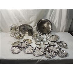METALWARE BOX LOT SILVERPLATE SILVER PLATE