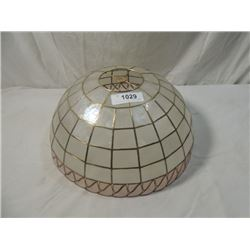 PLASTIC LEADED STYLE LAMPSHADE MINT NICE!