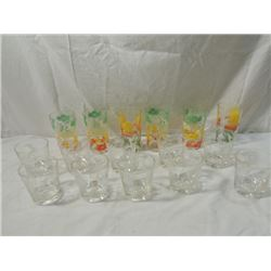 BOX LOT SWANKY SWIG COCKTAIL GLASSES OLD CARS