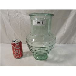 LARGE ELEGANT BLOWN GLASS VASE GREEN