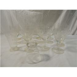 BOX LOT VINTAGE CRYSTAL STEMWARE WINE GLASSES