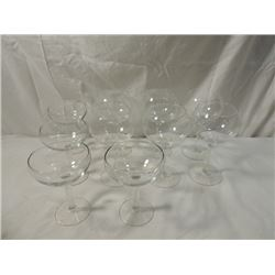 LOT CRYSTAL MARGUERITA GLASSES GOBLETS STEMWARE