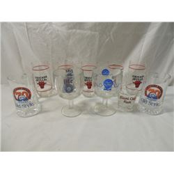 BEVERAGE GLASSES CHICAGO BEARS BULLS OLD STYLE