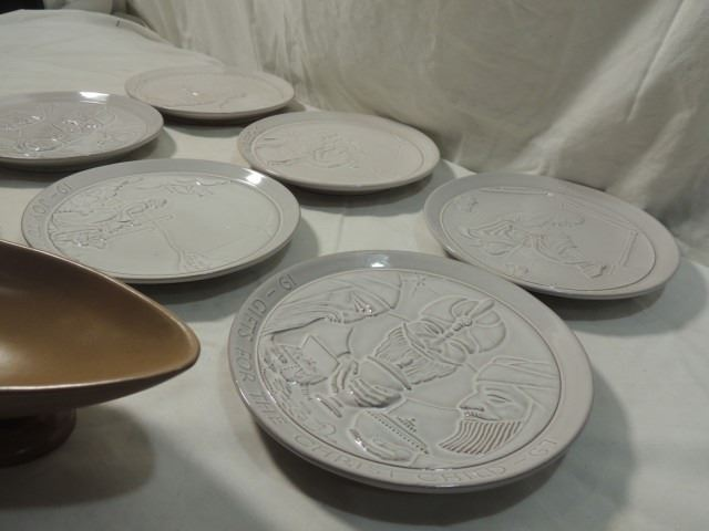 ... Image 2  FRANKOMA PLATES RED WING POTTERY DISHES LOT ... & FRANKOMA PLATES RED WING POTTERY DISHES LOT