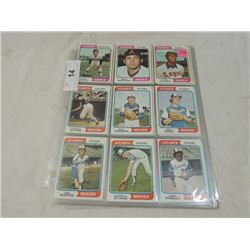 90 CARD LOT 1974 TOPPS BASEBALL SPORTS CARDS