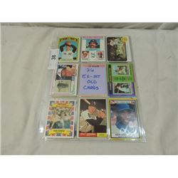 LOT 26 EX-MT OLD BASEBALL CARDS AS SHOWN