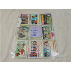 26 CARD LOT TOPPS BASEBALL OLDER EX TO MINT
