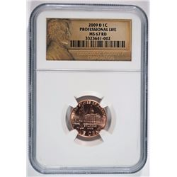 2009-D LINCOLN CENT  PROFESSIONAL LIFE NGC MS-67 RD