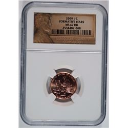 2009 LINCOLN CENT,  FORMATIVE YEARS NGC MS-67 RD