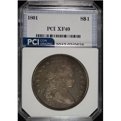 1801 DRAPED BUST DOLLAR PCI XF
