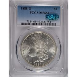 1888-O MORGAN SILVER DOLLAR, PCGS MS-65+ CAC
