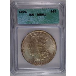 1901 MORGAN DOLLAR ICG MS-61 KEY DATE RARELY SEEN IN MS