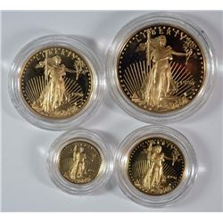 1996 4-PIECE PROOF AMERICAN GOLD EAGLE SET BOX/COA RARE!