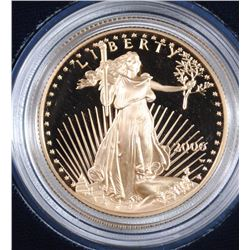 2006 PROOF GOLD HALF OUNCE EAGLE IN NICE ORIGNAL BOX/COA